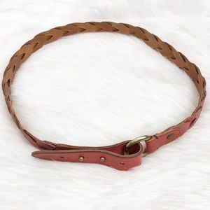 Fossil Coral Leather Belt Sz M